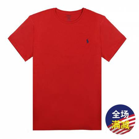 Polo Ralph Lauren男士圆领短袖T恤·红色