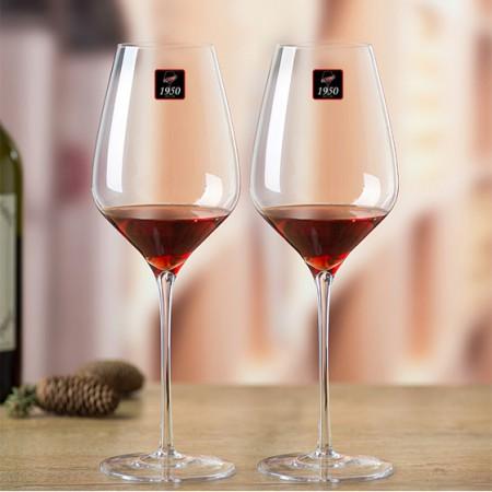 [1950]手工吹制波尔多(553ML)水晶红酒杯2支盒装