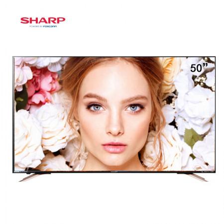 夏普(SHARP)50英寸4K超高清安卓智能液晶电视 LCD-50SU578·黑色