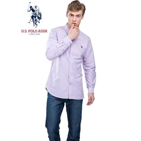 u.s.polo assn.(美国马球协会)美式长袖衬衫 紫色牛津纺·男