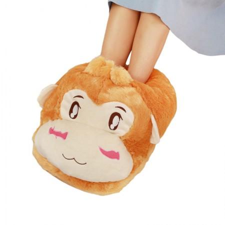 漫漫猪 创意冬季暖脚宝 可爱毛绒卡通动物·猴子