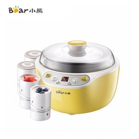 小熊(Bear)酸奶机家用全自动米酒机不锈钢内胆陶瓷4分杯SNJ-B10K1·黄色