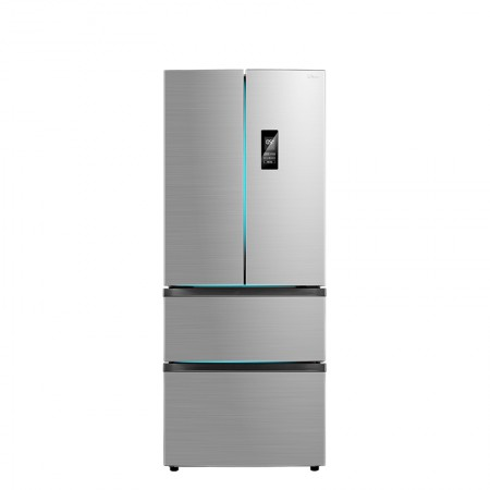 美的 四门对开APP智控变频无霜电冰箱318L  BCD-318WTPZM(E)·银色